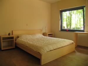Foto van de twee persoons slaapkamer in bungalow Primaplek te Bladel