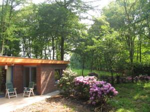 Foto van het aanzicht vanuit de tuin van PrimaPe